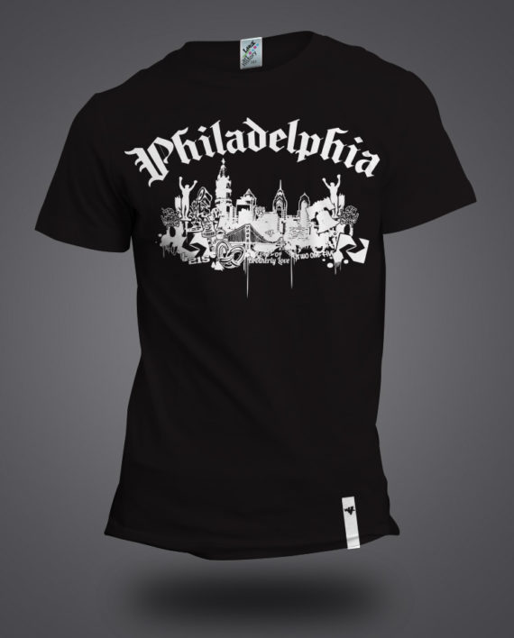 philly collage mockup black